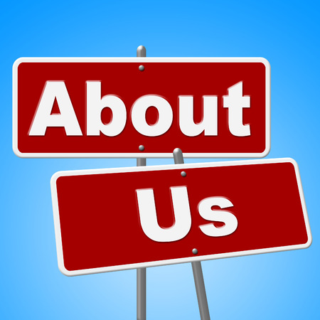 About Us Signs Meaning Message Display And Contact photo