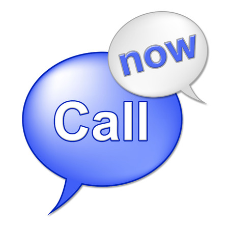 presently: Call Now Sign Showing At The Moment And Contact