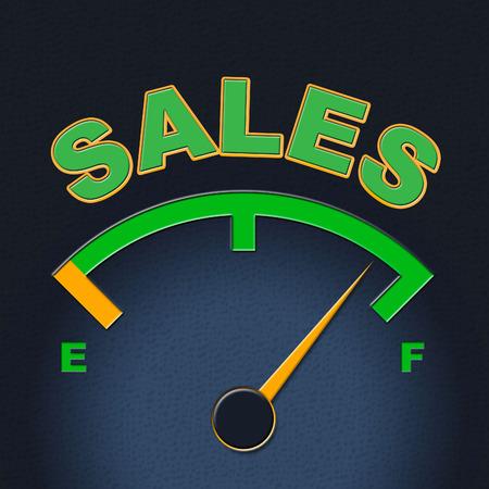 consumerism: Sales Gauge Indicating Meter Consumerism And Indicator