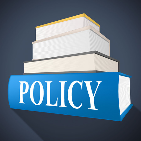 Policy Book Representing Rules Procedure And Non-Fiction Standard-Bild