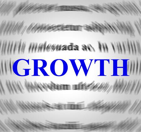 meant: Definizione crescita Indicando Aumento significato e Sviluppo Archivio Fotografico