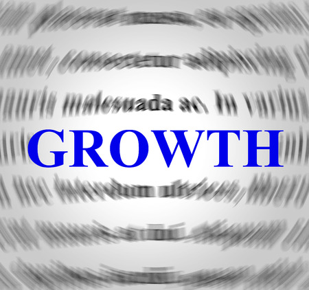 meant: Growth Definition Indicating Increase Meant And Development Stock Photo