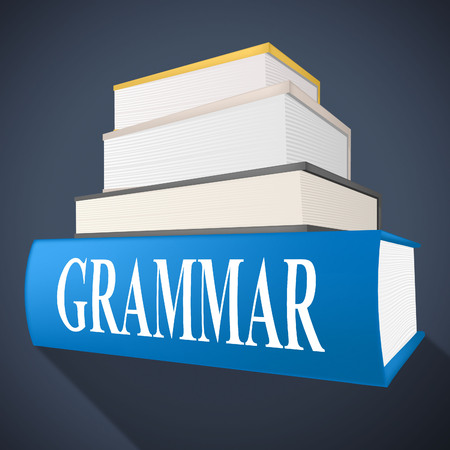 semantics: Grammar Book Showing Rules Of Language And Tutoring Learning