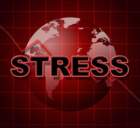 pressured: Stress Graph Showing Pressure Statistic And Pressured