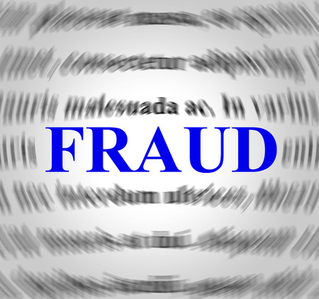meant: Fraud Definition Representing Hustle Deceit And Meant Stock Photo