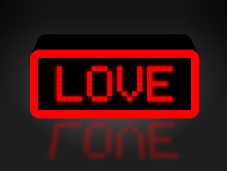 with fondness: Love Neon Sign Indicating Boyfriend Display And Fondness Stock Photo