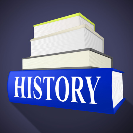 history books: History Books Showing The Past And Textbook