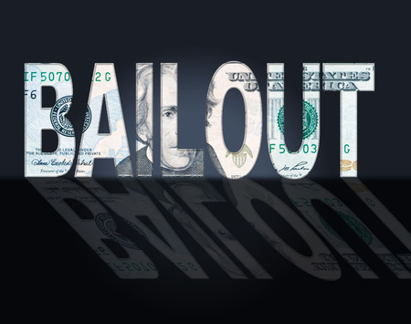 Bailout Dollars Representing Savings Money And Bank