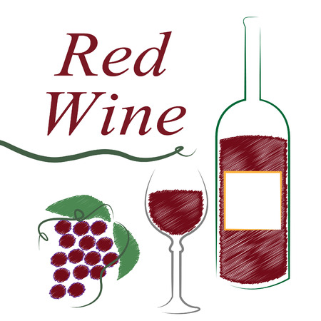 intoxicating: Wine Red Indicating Alcoholic Drink And Booze