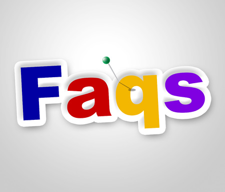 faq's: Faqs Sign Indicating Frequently Asked Questions And Signboard