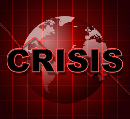 Crisis Graph Indicating Difficult Situation And Issue
