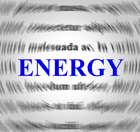 Energy Definition Meaning Power Source And Sense Stock Photo