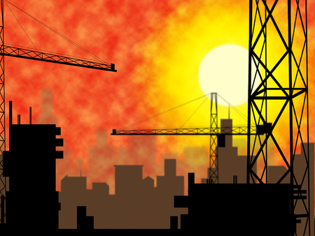 plot: City Construction Showing Building Plot And House Stock Photo