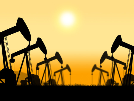 nonrenewable: Oil Wells Showing Oilwell Nonrenewable And Petroleum