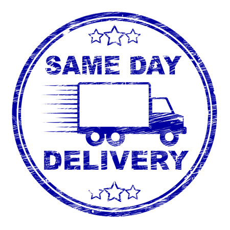 distributing: Same Day Delivery Showing Fast Shipping And Distributing