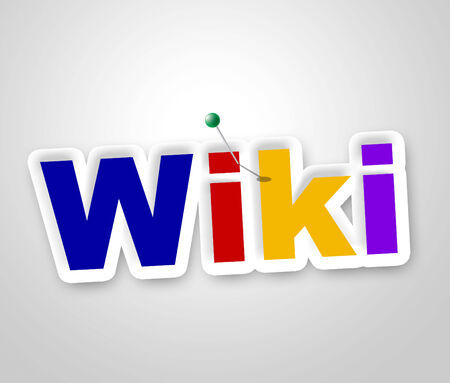 wiki: Wiki Sign Representing World Wide Web And Website