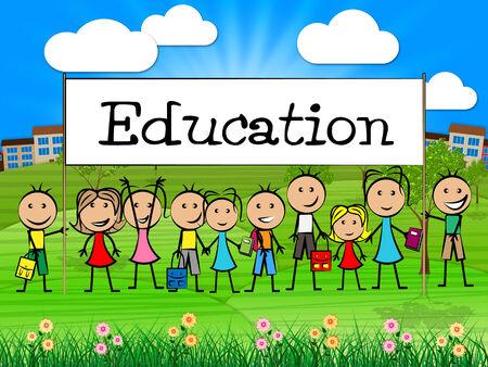 lernte: Bildung Banner Bedeutung gelernt entwickeln und Kleinkinder