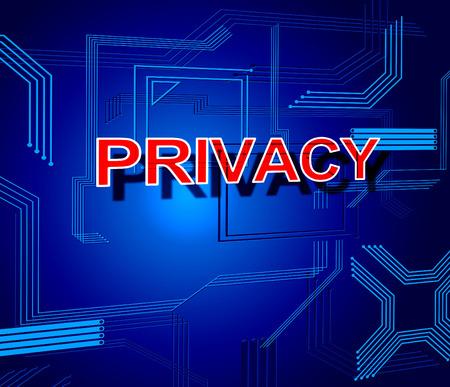 sigilo: Sinal de Privacidade Mostrando Secrecy privada e restrito