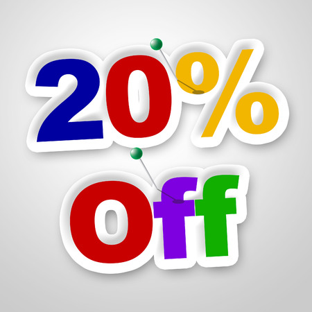 closeout: Twenty Percent Off Representing Save Closeout And Retail