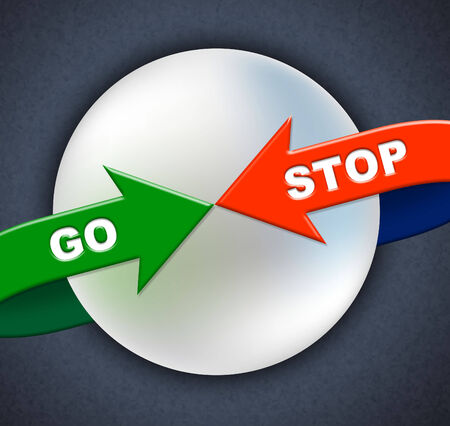 Go Stop Arrows Meaning Get Going And Prevent photo