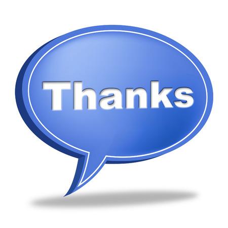 agradecimiento: Gracias burbuja del discurso Representando Apreciar Mensaje y agradecimiento Foto de archivo