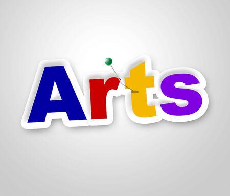 designing: Arts Sign Representing Designing Design And Drawing
