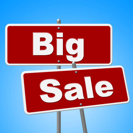 closeout: Big Sale Signs Meaning Closeout Promotional And Message Stock Photo