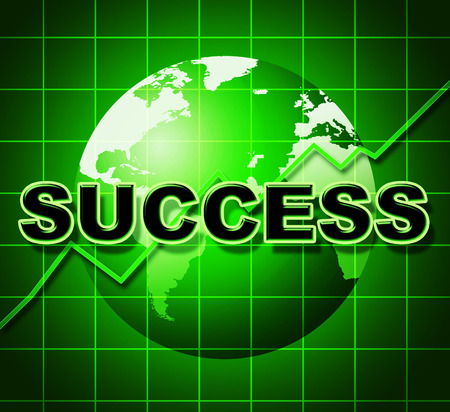 prevail: Success Graph Representing Resolution Prevail And Financial Stock Photo