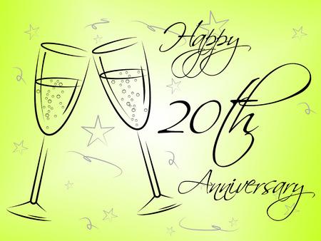 twentieth: Happy Twentieth Anniversary Meaning Romance Joy And Greeting
