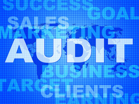 auditing: Audit Words Showing Auditing Auditor And Inspect