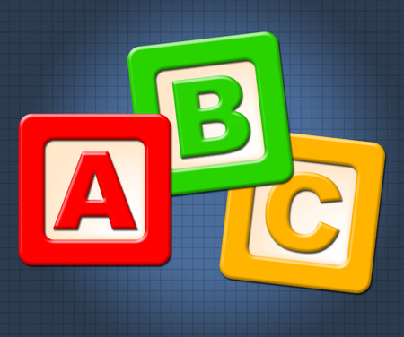 abc kids: Abc Kids Blocks Representing Early Education And Toddlers