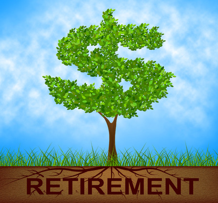 reforestation: Retirement Tree Representing Finish Working And Reforestation Stock Photo