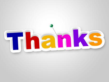 agradecimiento: Gracias sesi�n Significado Gratitud La gratitud y aprecio Foto de archivo