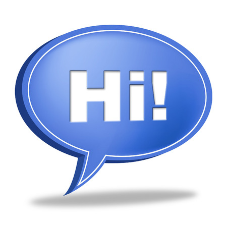 Hi Speech Bubble Meaning How Are You And Chat photo