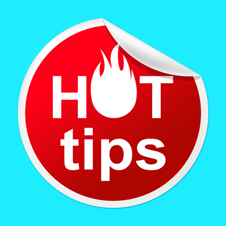 Hot Tips Sticker Representing Unsurpassed Recommendations And Prime
