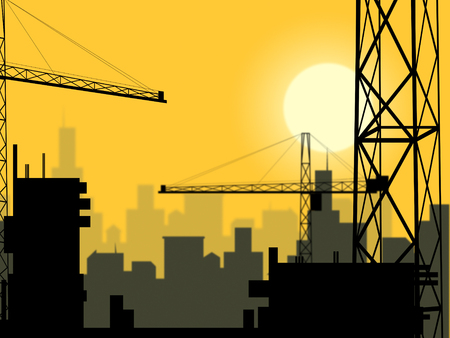 plot: Building Plot Meaning City Construction And Home Stock Photo