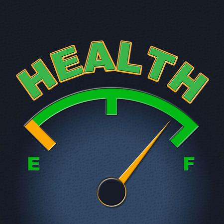 preventive medicine: Health Gauge Representing Preventive Medicine And Medical