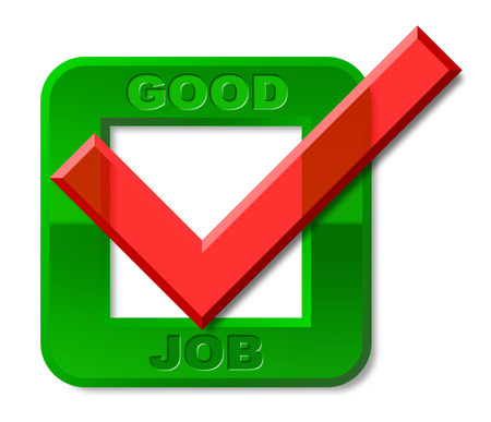 tremendous: Good Job Tick Meaning High Standard And Jobs
