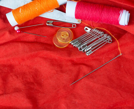 stitchwork: Sewing Equipment Representing Text Space And Needles