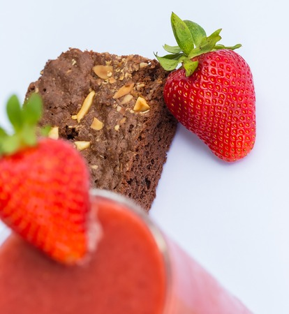afters: Strawberries And Brownie Meaning Afters Dessert And Juicy