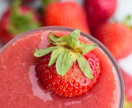Strawberry Smoothie Indicating Milk Shake And Drinks