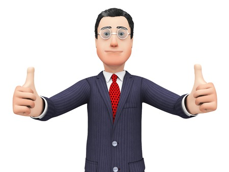 all right: Thumbs Up Businessman Indicating All Right And Trade Stock Photo
