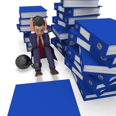 Businessman Overload Work Meaning Support Commerce And Correspondence