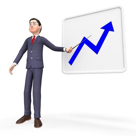 progressive: Progress Graph Showing Graphs Improvement And Progressive Stock Photo