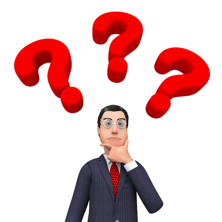 frequently asked questions: Question Marks Showing Frequently Asked Questions And Think About It Stock Photo