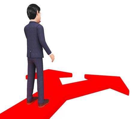 decide deciding: Businessman Deciding Indicating Company Direction And Professional Stock Photo