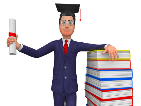prevail: Man With Diploma Showing New Grad And Prevail