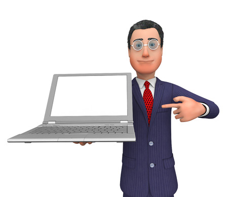 text space: Businessman Presenting Indicating Text Space And Trade