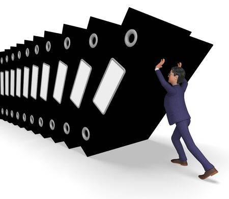 overburden: Information Overload Meaning Business Man And Faq