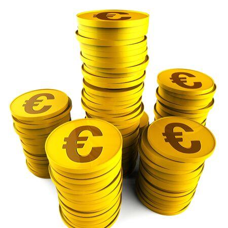 saved: Euro Savings Representing Increase Monetary And Saved